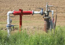 Small Rural Gas Collection Pipe Fitting Royalty Free Stock Photos