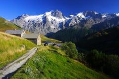 Small rural hamlet near Meije peak in oisans Stock Photo