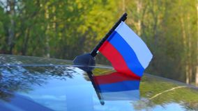 Small russian flag stock video footage
