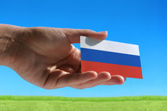 Small Russian flag Royalty Free Stock Photos
