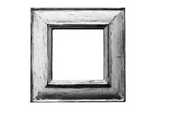 Small rustic frame 2 b/w. Distressed surface picture frame. Levels, contrast and detail adjusted for greyscale reproduction. clipping paths included so you can Royalty Free Stock Images