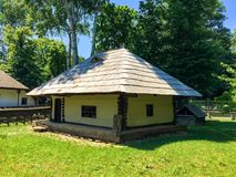 Small rustic Romanian house Stock Photography