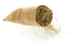 Small sack with the hay Royalty Free Stock Photos
