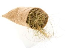 Small sack with the hay Stock Images