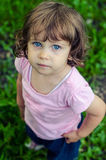 Small sad little girl Royalty Free Stock Images