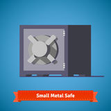 Small safe front view. Flat style illustration or icon. EPS 10 vector Royalty Free Stock Image