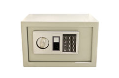 Small safe with numpad isolated. Royalty Free Stock Photos