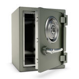 Small Safe Open. Small safe with password security. Design concept in 3D image Royalty Free Stock Photography