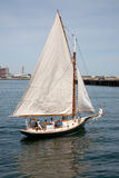 Small sail boat sailing Royalty Free Stock Images