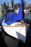 Small sailboat moored. Royalty Free Stock Photography