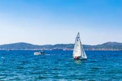 Small sailboats on the Adriatic sea near Zadar Royalty Free Stock Photography