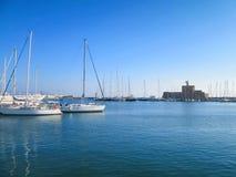Small sailboats docked Royalty Free Stock Photography