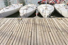 Small sailing boats in the jetty Royalty Free Stock Image