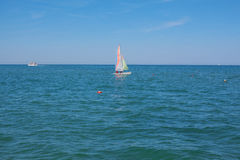 Small sailing yacht. Stock Photos