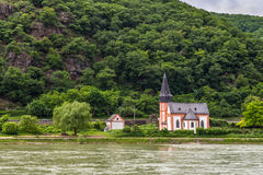Small Saint Clement's Chapel near Trechtingshausen, Germany Stock Photos