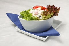 Small Salad With Dressing Royalty Free Stock Photo