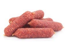 Small salami sausage slice Royalty Free Stock Image