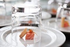 Small salmon snack Royalty Free Stock Photos