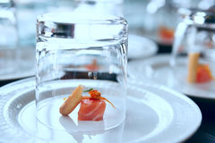 Small salmon snack Stock Images