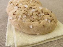 Small salt and caraway breads Stock Images