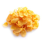 Small sampling of corn flakes in a pile Stock Photo