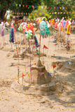 Small sand pagoda in Songkran festival, Thailand Stock Photos