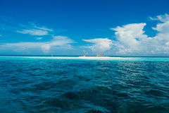 Small sandbank on the Indian Ocean Stock Photography