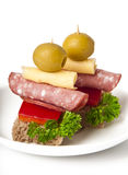 Small sandwich. On white background Stock Images