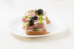 small sandwich Royalty Free Stock Photography