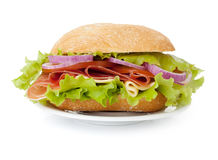 Small sandwich on plate Stock Images