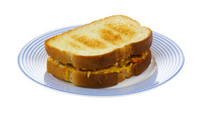 Small sandwich on plate Royalty Free Stock Photo