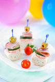 Small Sandwiches Royalty Free Stock Photos