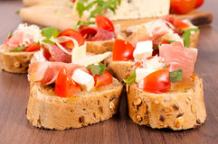 Small sandwiches Royalty Free Stock Images