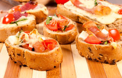 Small sandwiches Royalty Free Stock Image