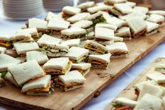 Small sandwiches appetizers royalty free stock images