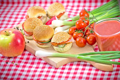 Small sandwiches - Perfect meal Royalty Free Stock Photos