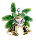 Small Santa and bells decoration Stock Images
