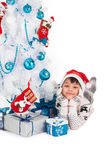 Small Santa boy Royalty Free Stock Images