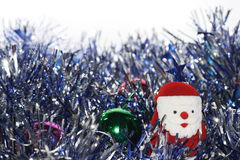Small Santa Claus. Christmas Baubles with small Santa Claus Stock Images