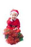 Small Santa Claus girl Stock Image