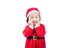 Small Santa Claus girl Stock Photos