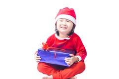 Small Santa Claus girl Stock Photography