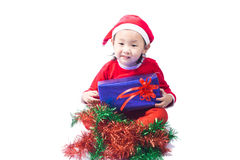 Small Santa Claus girl Royalty Free Stock Photos