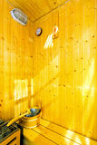 Small sauna interior Royalty Free Stock Photos