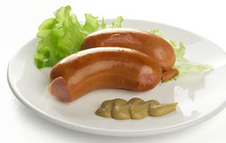 Small sausages Stock Photography