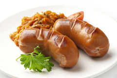 Small sausages Royalty Free Stock Image