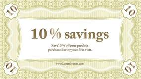 Small Savings Coupon Stock Photography