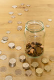 Small Savings In A Jar Royalty Free Stock Photography