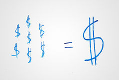 Small savings make a big fortune in dollars Royalty Free Stock Image