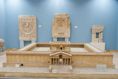 Small scale model (maquette) of the beautiful temple of Palmyra Stock Images